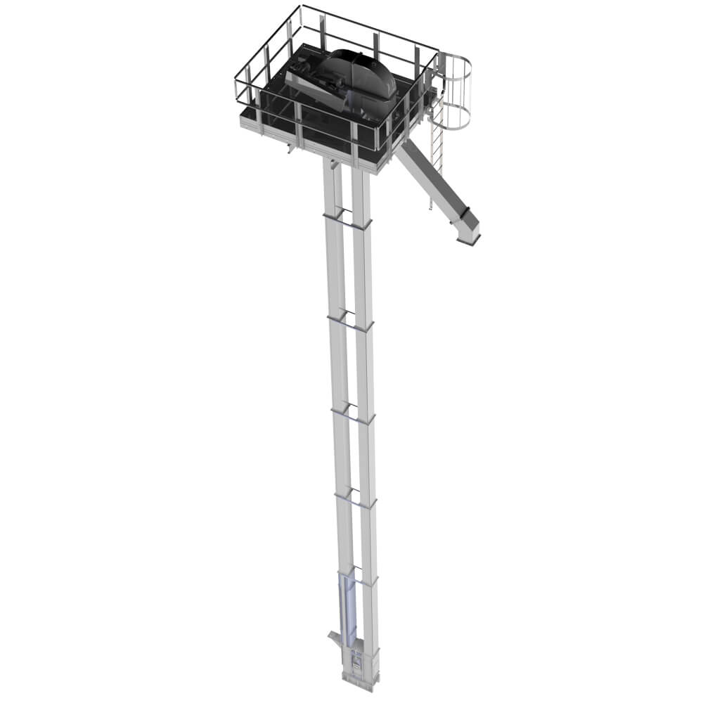 Bucket Elevator with Platform Rapat