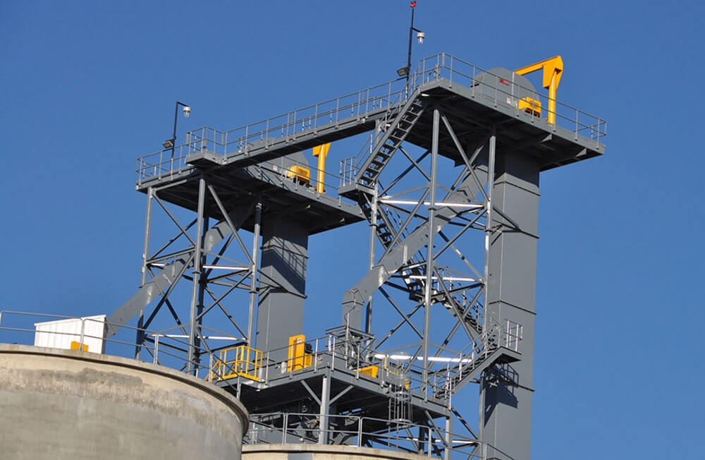 Bucket Elevators with Support Towers Rapat