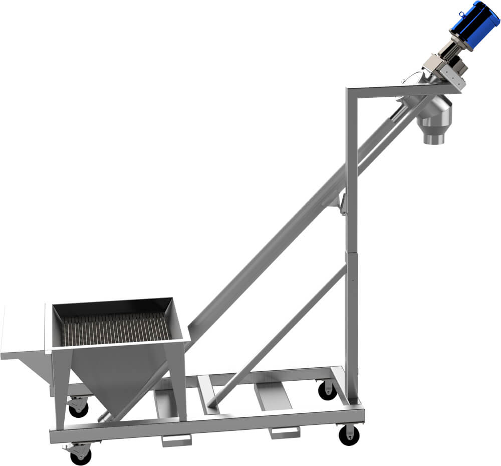 Portable Flexible Screw Conveyor Feeder with Hopper