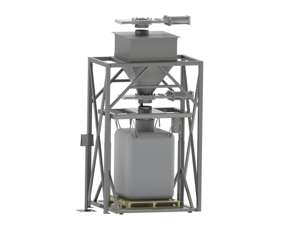 Bulk Bag Fill with Hopper and Valves