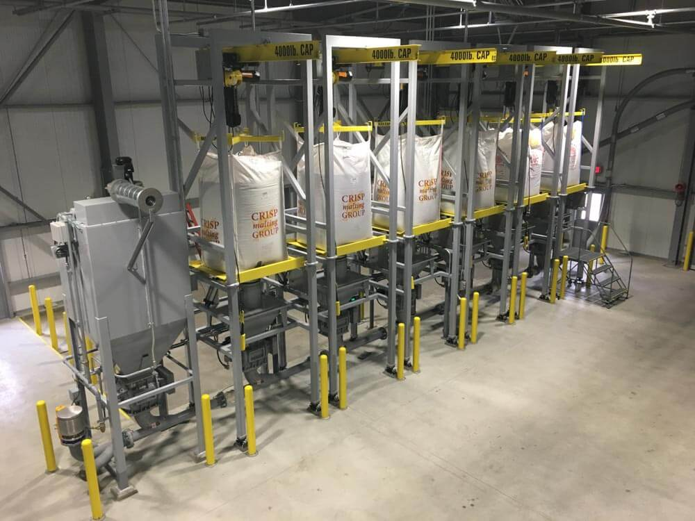 Bulk bag unload batching system 160182