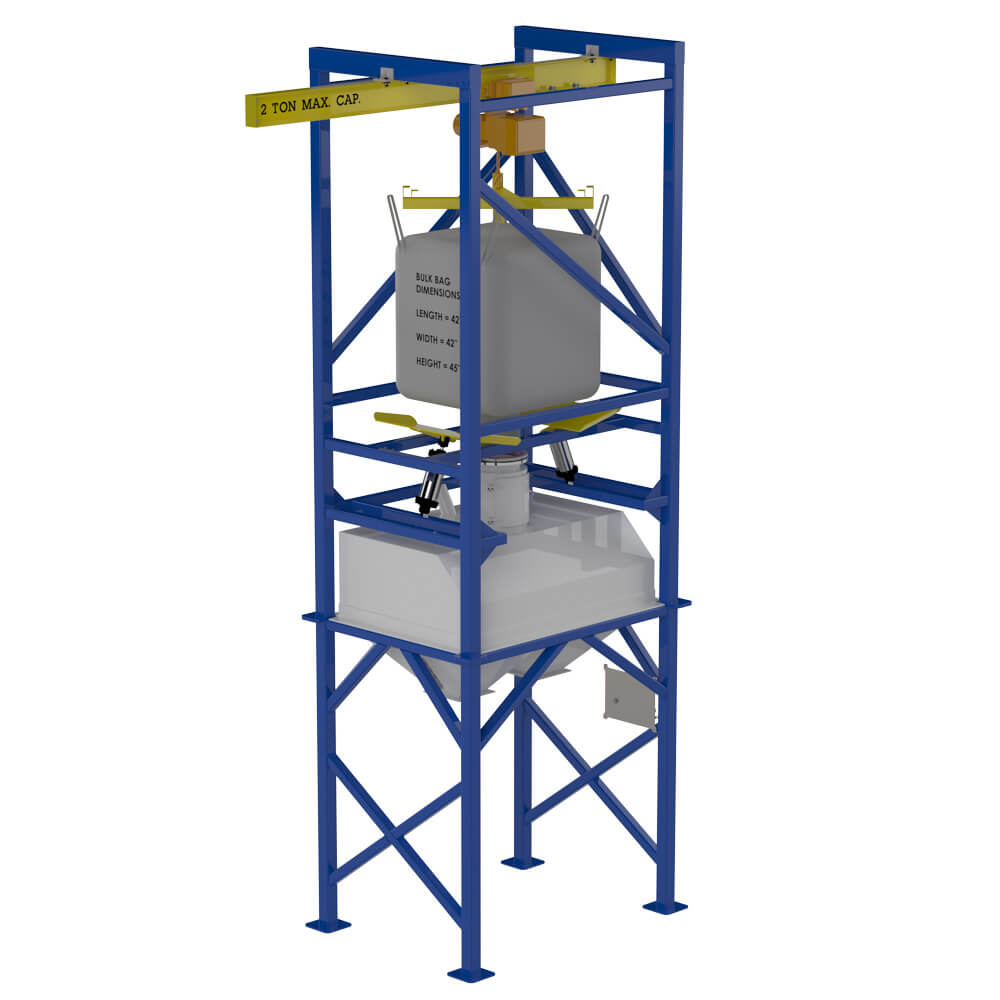 Bulk bag unload with large hopper 170611